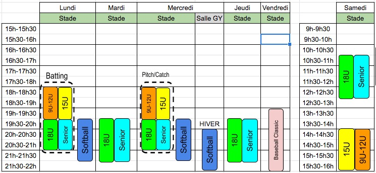 horaires 2019-2020